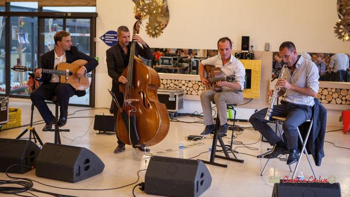 Nicolas Gavotto, Anthony Guterriez, Olivier Tasseël, Cédric Meunier; Belzaii. JAZZ360 / Handivillage 33, Camblanes-et-Meynac, 14/09/2019