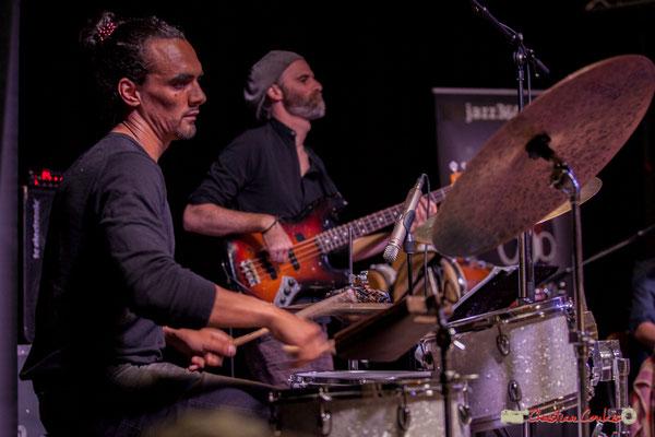 Gaétan Diaz, Thomas Labadens; Mayomi Moreno Project. Festival JAZZ360 2018, Latresne. 10/06/2018