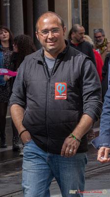 Christophe Miqueu, candidat aux élections législatives, 12ème circonscription de la Gironde. Bordeaux, 1er mai 2017
