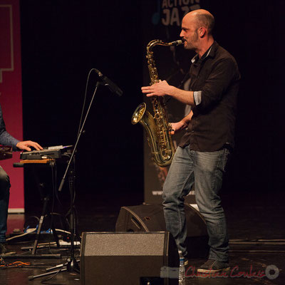 8 Edouard Lhoumeau du trio King Kong III. Tremplin Action Jazz 2017. Le Rocher de Palmer, Cenon