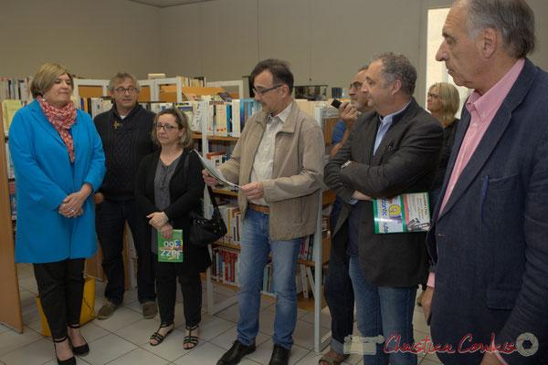 Jean-Philippe Guillemot, Maire de Camblanes-et-Meynac; Francis Delcros, Maire de Latresne sont à droite de Lionel Faye. 13/05/2016