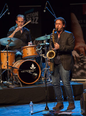 18 Lionel Ducasse, Paul Robert, quintet On Lee Way. Tremplin Action Jazz 2017. Le Rocher de Palmer, Cenon