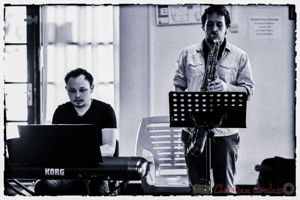 Vincent Vilnet, piano et Paul Robert, saxophone; Les Choraleurs, Carmen in Jazz, Quinsac