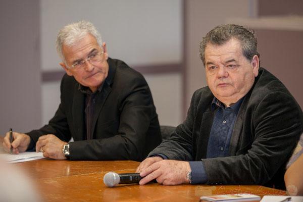 Gérard Poisbelaud, Adjoint au Maire de Tresses; Bernard Cros, Maire de Camarsac