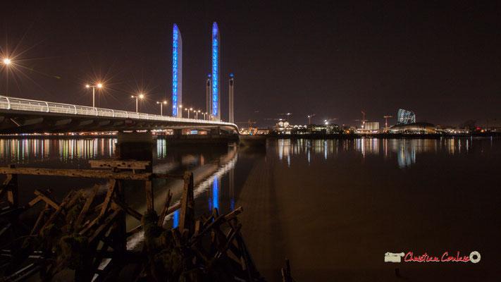 Pont Jacques Chaban-Delmas et Cité de la culture et des civilisations du vin, Bordeaux. Mercredi 27 février 2019