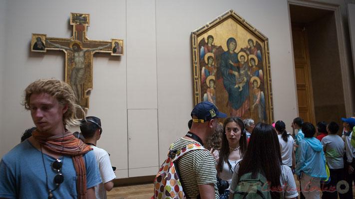 Croix peinte, Giotto di BondoneI ou son atelier, Le Salon carré, Musée du Louvre