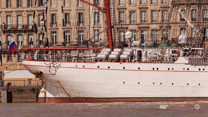 Poupe du Sedov (équipage de 65 marins et 164 cadets durant des voyages, en général longs de 3 mois. Bordeaux, 22/06/2019 Reproduction interdite - Tous droits réservés © Christian Coulais