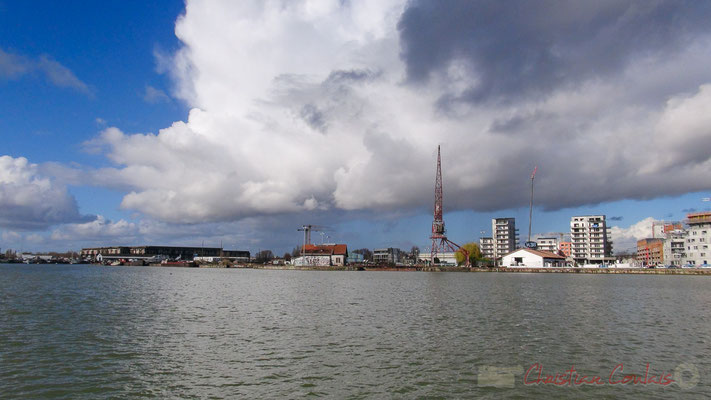 Bassins à flot, Bordeaux, Gironde. Vendredi 26 février 2016