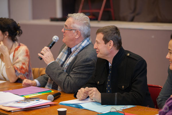 Jean-Marie Darmian, Vice-président du Conseil départemental; Thierry Suquet, Secrétaire général de la Préfecture de la Gironde