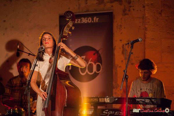 Nicolas Girardi, Laure Sanchez, Robin Magord; Laure Sanchez Quintet, JAZZ360 au Domaine de Sentout, Lignan-de-Bordeaux. 08/09/2018