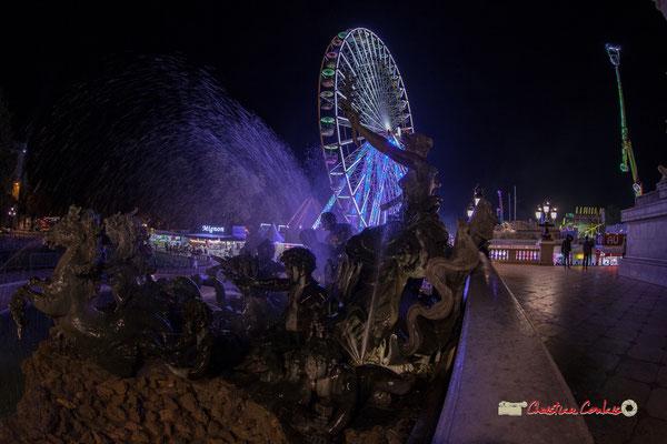 Monument aux Girondins, bassin le triomphe de la Concorde. Bordeaux, mercredi 17 octobre 2018