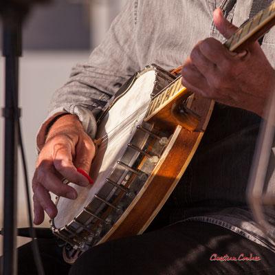 """""""Banjo 2"""" Jean-Michel Plassan ; Crawfish Wallet. Vendredi 25 juin 2021, M.A.S. LADAPT, Camblanes-et-Meynac. Photographie © Christian Coulais"""