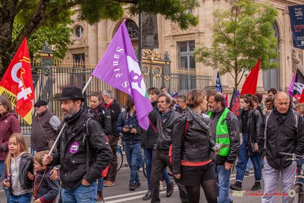 10h39 Militants Sud Santé Sociaux. Cours d'Albret, Bordeaux. 01/05/2018