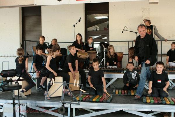 Répétition de l'école de Sadirac, Lorient. Festival JAZZ360, Les coulisses du Festival à Cénac. 01/06/2011