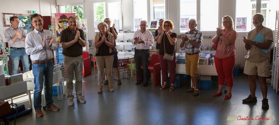 Applaudissements pour cet intermède musical interprété par Vincent Vilnet. Festival JAZZ360. 1er juin 2017, Camblanes-et-Meynac