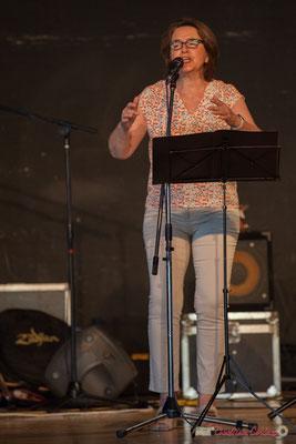 Véronique Bermejo. Ensemble vocal Semailles. Concert de soutien des Insoumis de la 12ème circonscription de la Gironde. 28/05/2017, Targon