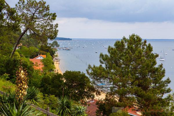 Depuis le village de l'Herbe, presqu'ïle du Cap Ferret, Gironde, Aquitaine