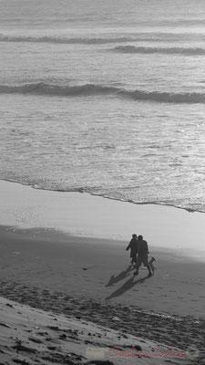 """""""Presque seuls au monde"""". Biscarrosse océan, plage du Vivier, Landes. 21 février 2016"""