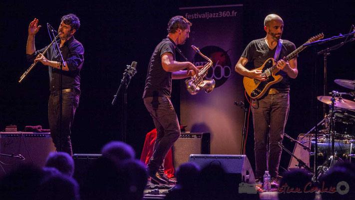 Joce Meinniel, Sylvain Rifflet, Philippe Gordiani, Sylvain Rifflet Quartet, Festival JAZZ360 2016, Cénac