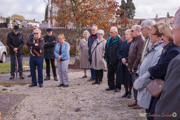 Commémoration du 11 novembre 1918 à Cénac, 11/11/2017