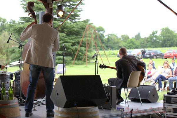 Olivier Gatto, David Blenkhorn; Alex Golino & David Blenkhorn Quartet, Festival JAZZ360 2012, château Roquebrune, Cénac, samedi 9 juin 2012