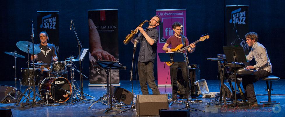 10 Gaétan Diaz, Julien Dubois, Ouriel Ellert, Simon Chivallon, quartet Le JarDin. Tremplin Action Jazz 2017. Le Rocher de Palmer
