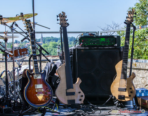Les guitares de Tom Ibarra et Jean-Marie Morin. Festival JAZZ360, 10 juin 2017, Camblanes-et-Meynac