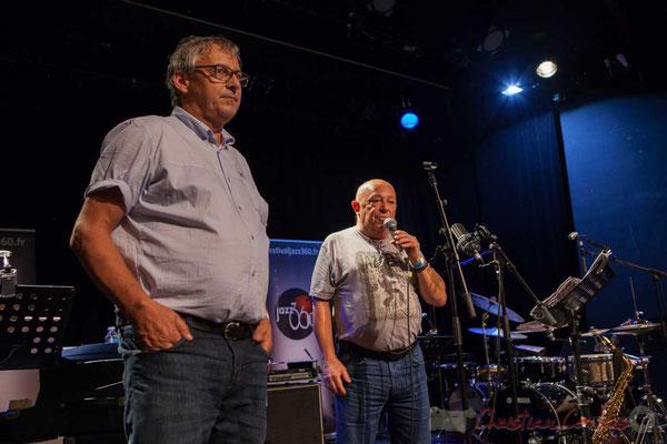 Alain Piarou, Président d'Action Jazz, présente Le JarDin Quartet, lauréat du Tremplin Action Jazz 2016. Festival JAZZ360 2016, 10/06/2016
