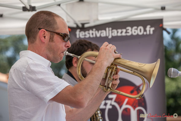 Jérôme Dubois et son bugle, Paul Robert, Quintet On Lee Way, Festival JAZZ360, Quinsac, 11/06/2017