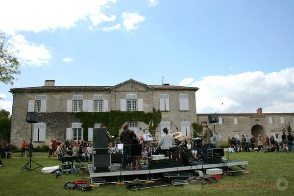 Festival JAZZ360 2010, MovieJazzProject face au château Lestange, Quinsac, 16/05/2010