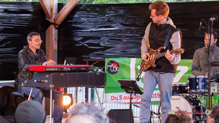 Christophe Maroye Quartet : Xavier Duprat, Christophe Maroye, Didier Ottaviani. JAZZ360-M.A.S. L'ADAPT, Camblanes-et-Meynac. 17/05/2019.