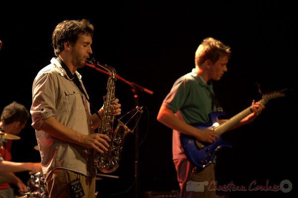Paul Robert, Mathias Monseigne; Edmond Bilal Band, Festival JAZZ360 2013, Cénac. 07/06/2013