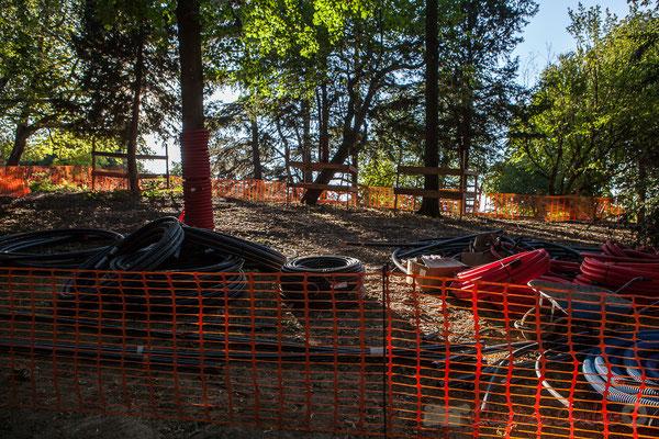 """""""En rénovation depuis novembre 2012"""", Parc des Buttes-Chaumont, Paris 19ème arrondissement"""