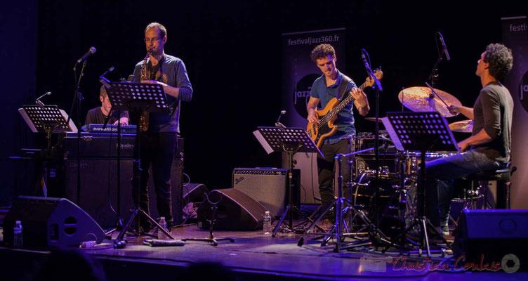 Le Jardin Quartet : Julien Dubois, saxophone /  Ouriel Ellert, basse / Gaétan Diaz, batterie. Festival JAZZ360 2016, 10/06/2016