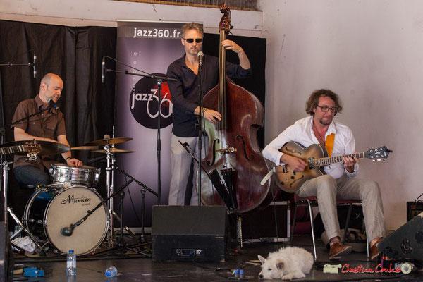 Valery Haumont, Denis Joëssel, Paul Kurkdjian; Gadjo & Co. Festival JAZZ360 2018, Camblanes-et-Meynac. 09/06/2018