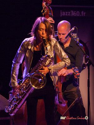 Céline Bonacina, Chris Jennings; Céline Bonacina Crystal Quartet; Festival JAZZ360 2019. Cénac, 08/06/2019