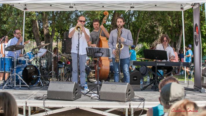 Lionel Ducasse, Jérôme Dubois, Jérôme Armandie, Paul Robert, Nicolas Lancia, Quintet On Lee Way, Festival JAZZ360, Quinsac, 11/06/2017
