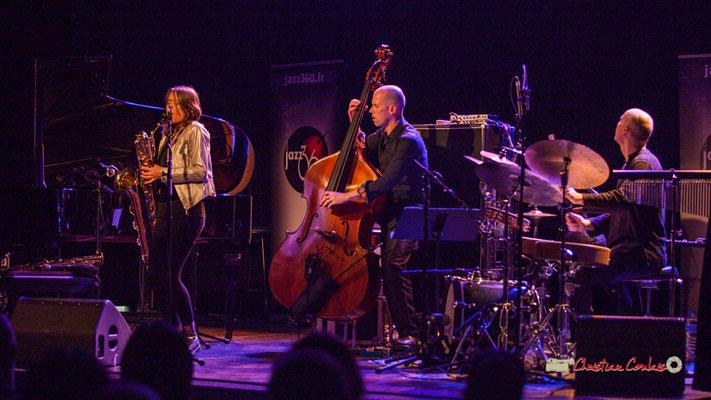 Céline Bonacina, Chris Jennings, Asaf Sirkis; Céline Bonacina Crystal Quartet; Festival JAZZ360 2019. Cénac, 08/06/2019