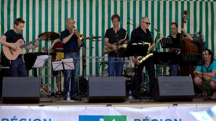 Festival JAZZ360 2014, Jordan Cauvin, Alain Duffort, Thierry Taveaux, Rémy Brown, Fred Monkeys, Grat Martinez; Jazzméléon Trafic. Cénac, 07/06/2014