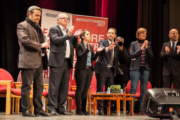 1 Pascal Lafargue, Jean-Marie Darmian, Naïma Charaï, Benoît Hamon, Andréa Kiss, Matthieu Rouveyre, Théâtre Fémina, Bordeaux