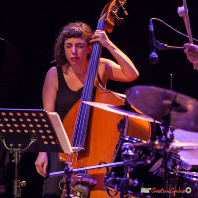 "Sarah Murcia; Louis Sclavis Quartet ""Characters on a wall"". Festival JAZZ360 2018, Cénac. 08/06/2018"