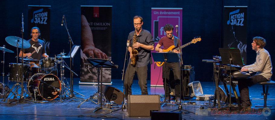 9 Gaétan Diaz, Julien Dubois, Ouriel Ellert, Simon Chivallon, quartet Le JarDin. Tremplin Action Jazz 2017. Le Rocher de Palmer
