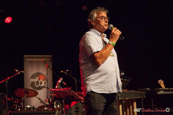 Présentation de la soirée, par Richard Raducanu, Président de l'association JAZZ360. Festival JAZZ360, Cénac, 10 juin 2017