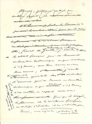 Fac-similé du manuscrit de l'Appel du Général de Gaulle, 18 juin 1940