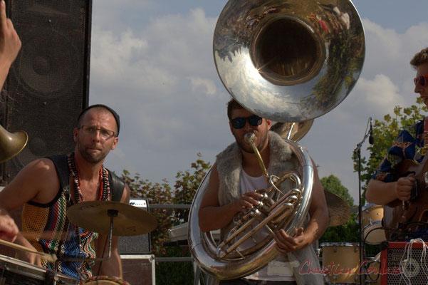Elephant Brass Machine, Ludovic Lesage, Damien Bachère. Festival JAZZ360 2015, Cénac, 12/06/2016