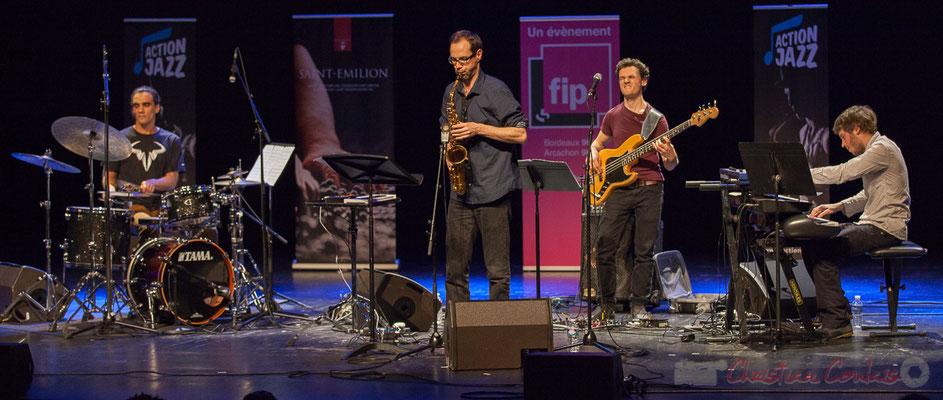 13 Gaétan Diaz, Julien Dubois, Ouriel Ellert, Simon Chivallon, quartet Le JarDin. Tremplin Action Jazz 2017. Le Rocher de Palmer