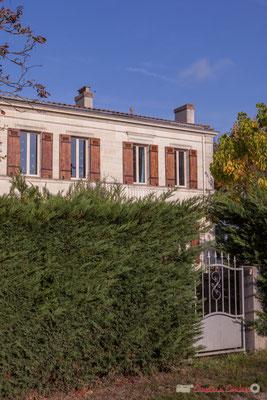 4 Habitat vernaculaire. Avenue de Mons, Cénac, Gironde. 16/10/2017