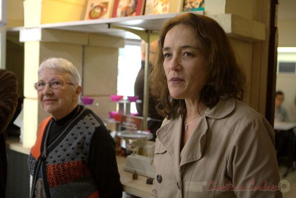 Suzette Grel et Mathilde Feld, Présidente de la Communauté de Communes du Créonnais. 13 mars 2015