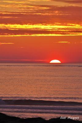 Coucher de soleil. Mardi 7 avril 2020. Photographie : Gaël Moignot