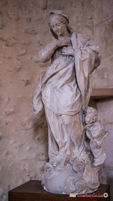 Statue en platre de la vierge Marie. Eglise Saint-André, Cénac. 11/05/2018